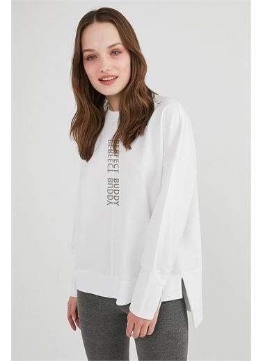 Penti Kadın Beyaz Outside Overs Sweatshirt PH299IQ821IY Beyaz